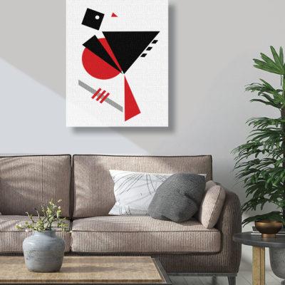 Abstract bird canvas